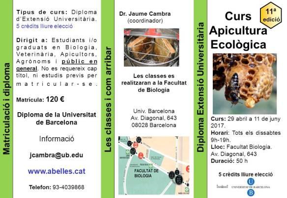 Curso apicultura ecologica en Barcelona